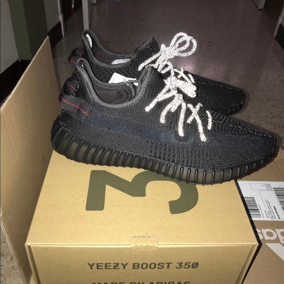 new concept bd017 528d3 Yeezy 350 boost black static non reflective NWT